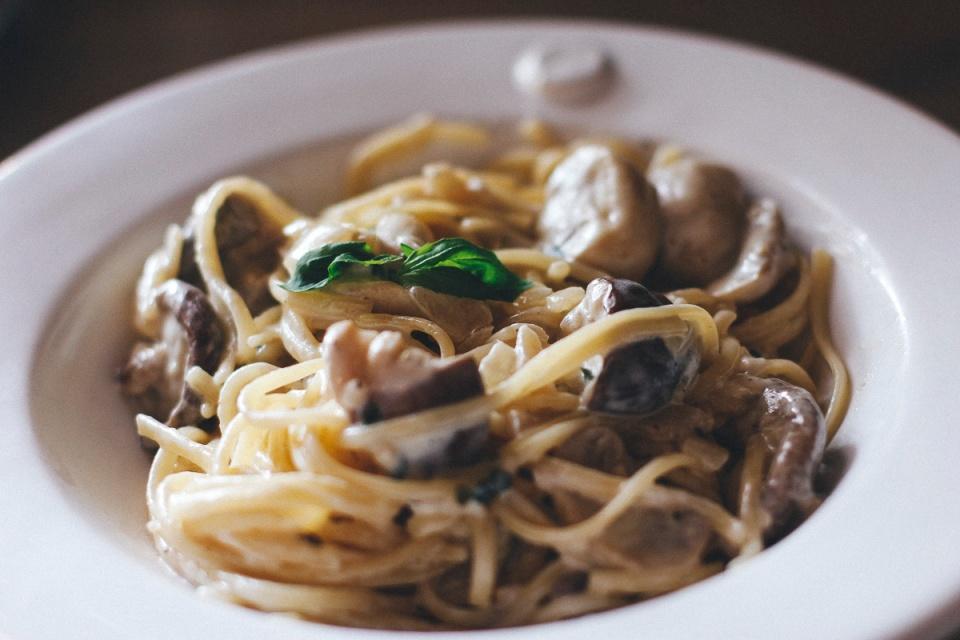 Fritter and Loaf Shamefully Good Mushroom Pasta