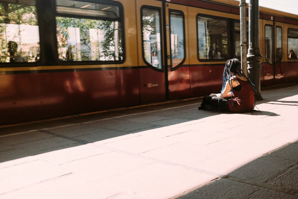 Waiting for a train in Berlin